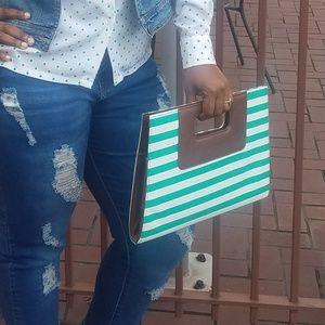 Handbags - Bold Stripe Clutch